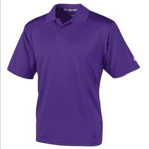 NWT Champion 100% Cotton Branded Purple Pique Polo